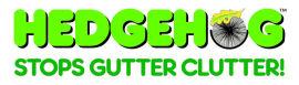 Logo says hedgehog stops gutter clutter